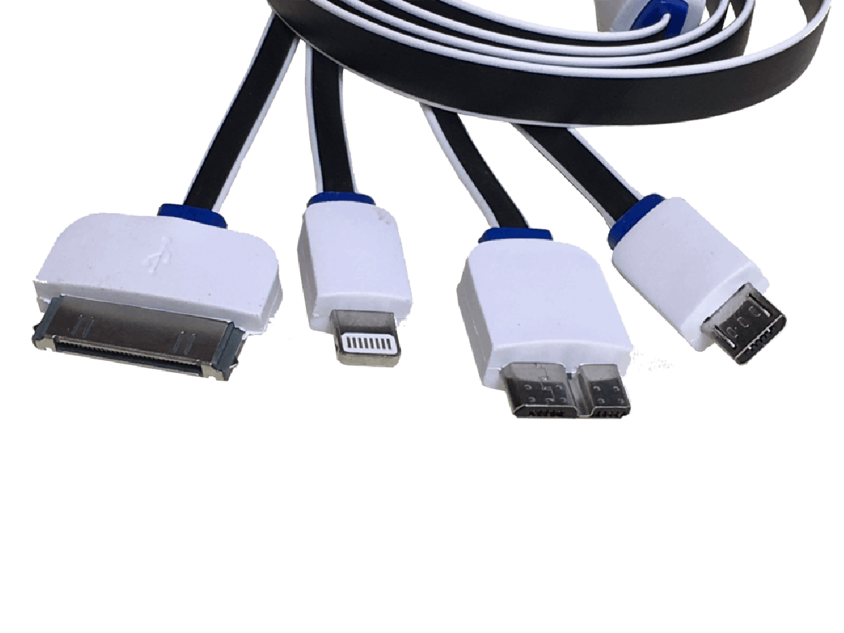 usb to 4 way multi plug charger cable. Black Bedroom Furniture Sets. Home Design Ideas