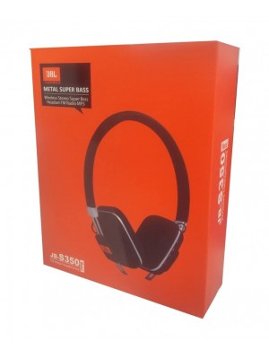 JB-s350 Metal Super Bass Wireless Stereo HeadPhone With FM Radio Mp3