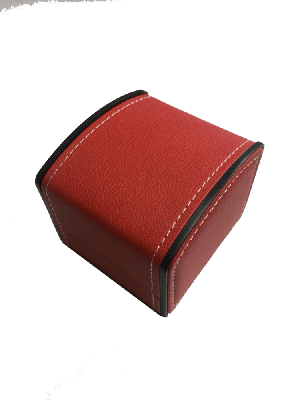 Watch Box - Red Faux Leather Watch box with Stiching